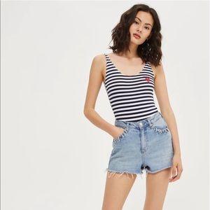 Topshop 'amour' striped bodysuit
